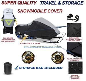 Trailerable Snowmobile Snow Machine Sled Cover fits Ski-Doo MX Z Sport 600 Carb 2013 2014 2015 2016 2017 2018
