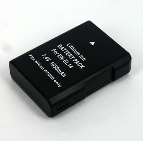 Batería//Cargador Doble Para Nikon EN-EL14 EN-EL14a D3300//P7100//P7200//P7700//P7800