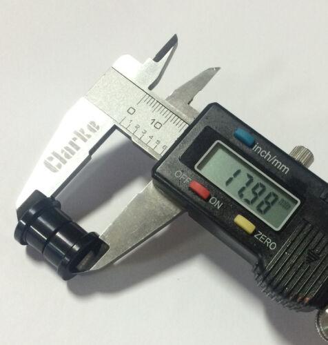 """Œillets Bagues Anodisé Noir 17.98 mm Largeur x .375 /""""ID Fits Fox 803-03-070"""