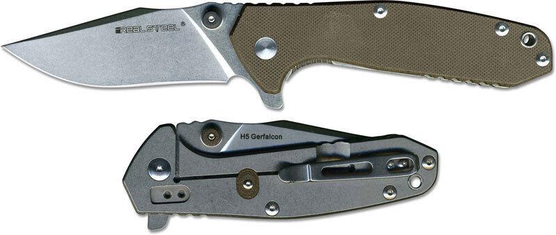 Real Steel H5 braun braun braun Taschenmesser 01RE005 fdd6b1