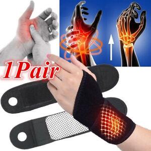 1-Pair-Self-heating-Magnet-Wrist-Support-Brace-Protector-Tourmaline-Wristband-US