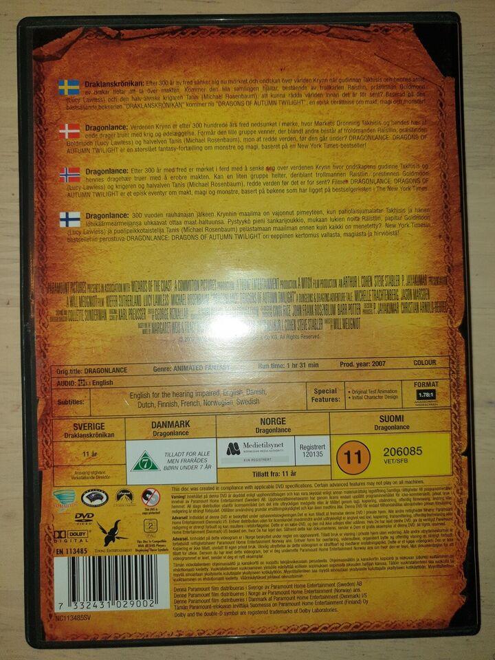 DragonLance, DVD, eventyr