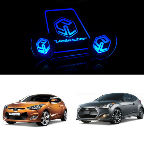 LED Cup holder inside Plate REAR Side For Hyundai Veloster Turbo 2012~2016+
