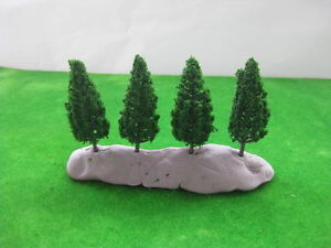 S6823-40pcs-Model-Pine-Trees-Deep-Green-For-N-HO-Scale-Layout-68mm-New