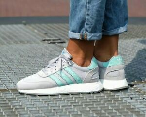 adidas-I-5923-Casual-Sneakers-White-Womens-D97349-Grey-Mint
