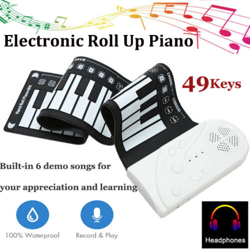portable usb 49 keys hand roll up