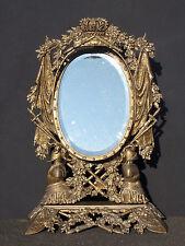 Miroir psyché d'époque Victorienne en fonte de fer bronzé Victorian Mirror 19th