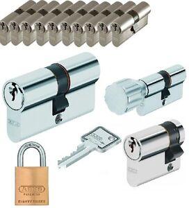 10er set abus security profilzylinder schlie zylinder gleichschlie end ebay. Black Bedroom Furniture Sets. Home Design Ideas