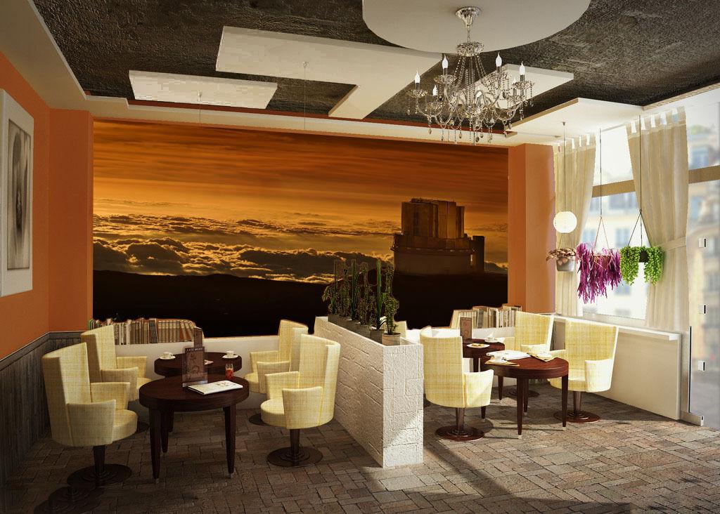 3D Sunset cloud 1 WallPaper Murals Wall Print Decal Wall Deco AJ WALLPAPER