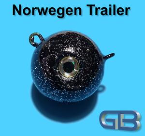 Norwegen-Trailer-40g-50g-75g-115g-170g-Sea-Trailer-Kugelblei-mit-Ose
