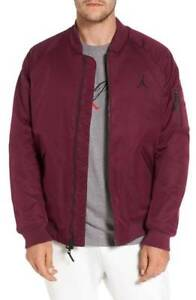 NEW ~ Nike Jordan Sportswear Wings MA-1 Bomber Jacket Burgundy Wine ... 75f590341