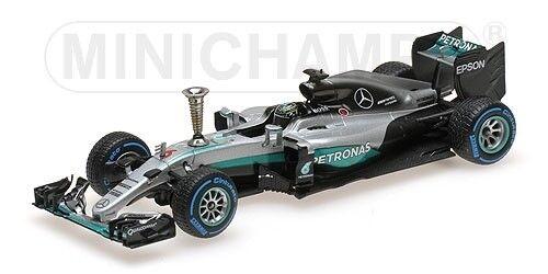 Mercedes Amg W07 Nico Rosberg Demontration Run WC 2016 MINICHAMPS 1 43 410161006