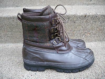 Polo Ralph Lauren Crestwick Leather Rubber Sport Hunting Men Boots Shoes Size 10 Om Een Hoge Bewondering Te Winnen