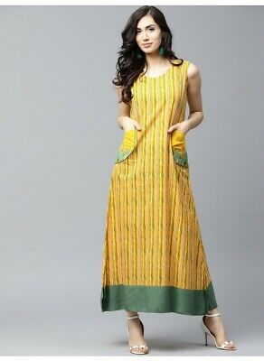 Indian Bollywood Designer New Style Printed maxi Kurti women ethnic dress-nk630