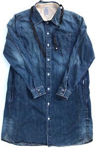 G-Star Dress 'TAILOR XL SHIRT WMN' Denim Size S EUC RRP $289 Womens Girls