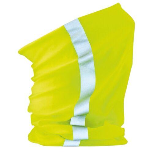 Unisex Beechfield Morf Enhance HiVis Reflective Stripe Snood Neck Scarf One Size