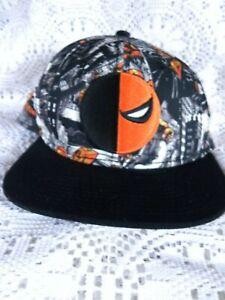 Deathstroke Snapback Hat Cap DC Comics Graphic Black Logo Trucker Villian