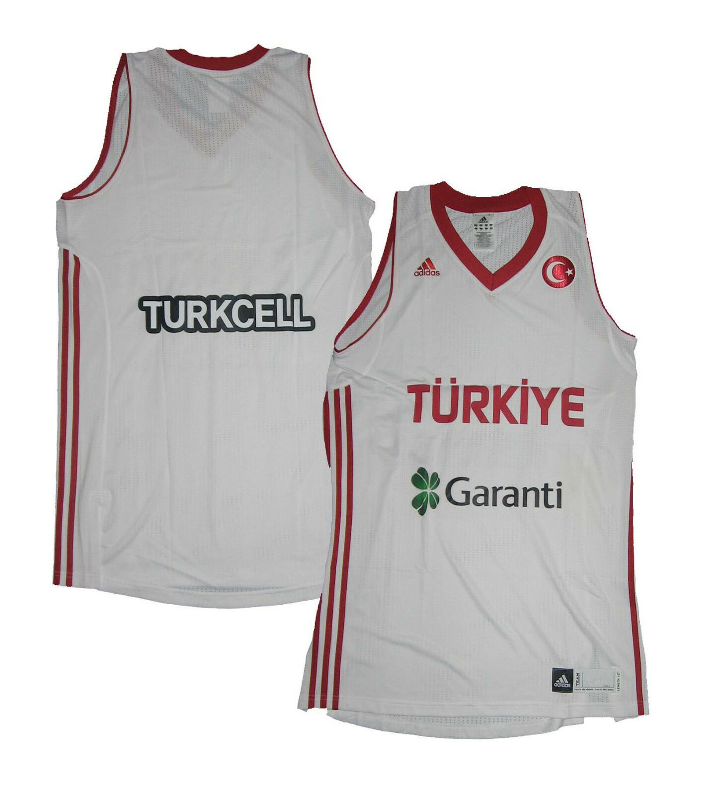 Türkei Basketball Trikot FIBA EM 2011 2011 2011 Adidas 2XL Length+2 b3a560