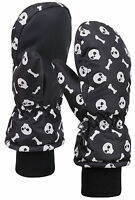 Boy's Winter 3m Thinsulate Waterproof Skull Snow Ski Mittens