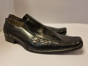 2fbe4f2461f MEN S STACY ADAMS TEMPLIN BLACK LEATHER SLIP ON DRESS SHOES size 11 ...