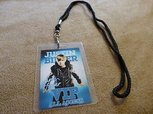 Justin bieber vip pass and lanyard backstage all access meet image is loading justin bieber vip pass and lanyard backstage all m4hsunfo