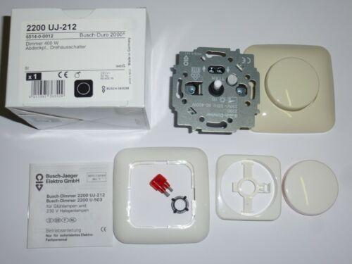 212//Drehknopf 2115-214//Rahmen2511-214 Busch Jaeger Dimmer 2200 UJ