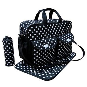 dc6bfa18c Image is loading Deluxe-Baby-Changing-Bag-Large-Handbag-Mother-Waterproof-