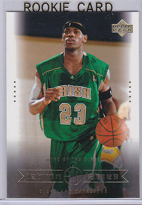 Lebron James Rookie Card Upper Deck St Marys Irish High