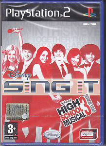 Ps2-PlayStation-2-DISNEY-SING-IT-HIGH-SCHOOL-MUSICAL-3-SENIOR-YEAR-Nuovo-Italian
