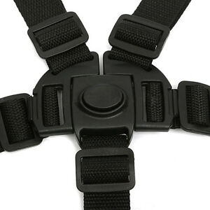 5-Point-Safety-Baby-Kids-Harness-Stroller-High-Chair-Pram-Car-Belt-Strap-Black