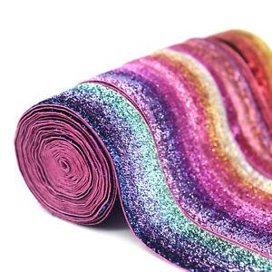 2Yards-Rainbow-Glitter-Trim-Ribbon-Handmade-Material-DIY-Apparel-Sewing