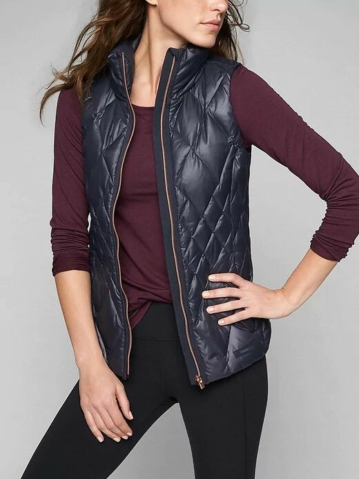 Athleta Responsible Down Vest Navy