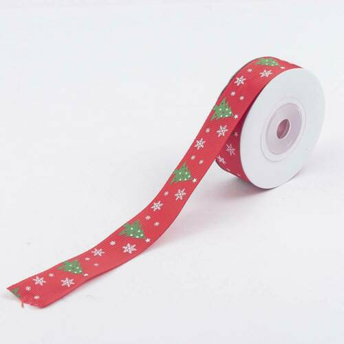 MERRY CHRISTMAS grosgrain ribbon by the Metre RED WHITE GOLD SILVER 2-20M