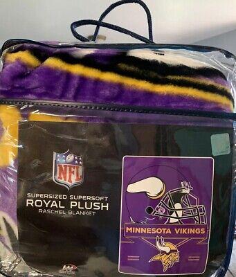 Nfl Minnesota Vikings Royal Plush Blanket Ebay