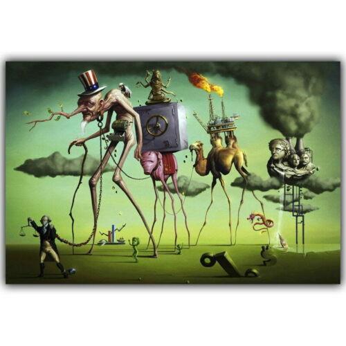 60980 Salvador Dali Surrealism Abstract Painting Wall Print POSTER AU