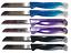 6x Solingen Küchenmesser verschiedene Farben mit Sägezahn Klinge