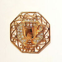 Avon Honor Society Female Pin 1994/1995 Brooch Pin Rhinestones In Box