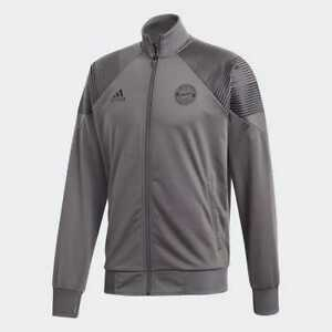 0d58f78ca0366 Adidas Men s FC Bayern Munich Icon Zip Up Track Soccer Jacket (Grey ...