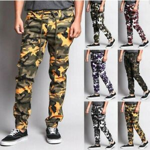 how to choose discount price search for best Details about Mens Twill Jogger print Pants Camouflage **Army Fatigue**  Leopard !! Big Sizes !
