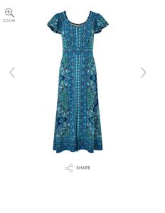Beautiful Alaya Print Midi Dress bY Monsoon RRP-