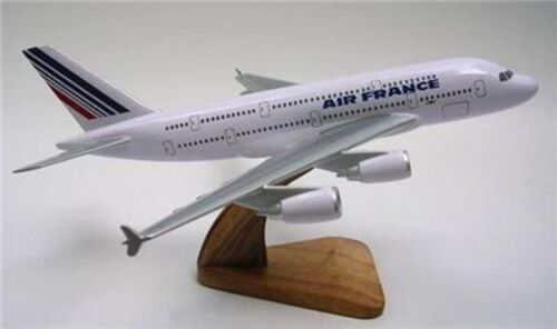 A380 Air France Airlines Airbus 380 Airplane Mahogany Kiln Wood Model Small New