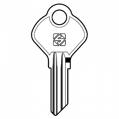 Replacement TOK01 pass key cut to code for TOK//YALE locks