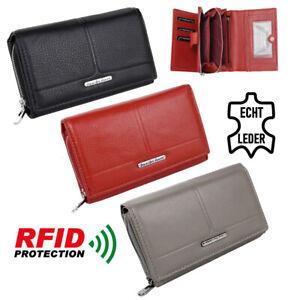 Leder-Damen-Geldboerse-Grosses-Portemonnaie-Geldbeutel-fuer-Frauen-mit-RFID-Schutz