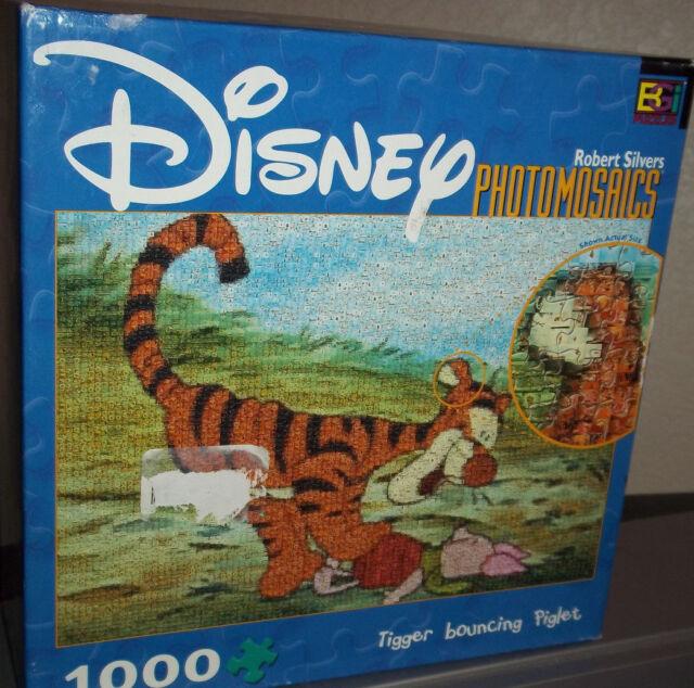 Photomosaics Disney Tigger Bouncing Piglet Jigsaw Puzzle Robert Silvers 1000