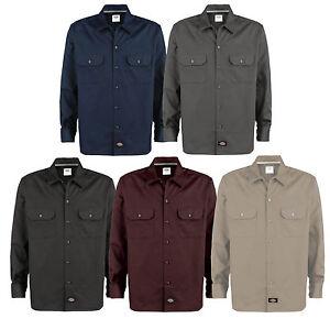 Dickies Long Sleeve Work Shirt Herren-Hemd Freizeithemd Langarmhemd Regular Fit