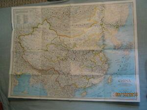 National Geographic Map Of China.China Wall Map Information History National Geographic July 1991