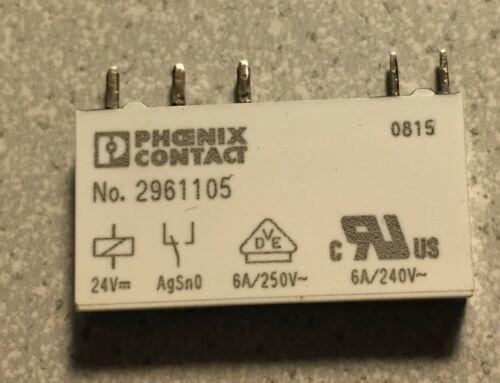 Relais 6A 24V DC Phönix Contact 2961105