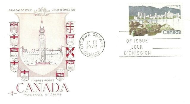 Canada    # 600  Rosecraft   Vancouver Landscape    New 1972  Unaddressed Issue