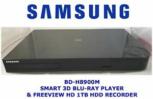 Samsung-BD-H8900M-3D-2D-Blu-Ray-DVD-HDD-1TB-FREEVIEW-HD-Twin-PVR-Registratore-Smart