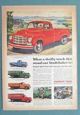 1950 Studebaker Pickup Truck Ad WHAT A THRIFTY THIS IS 1/2 Ton 6 1/2 Foot Bed